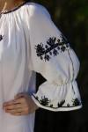 Rochie traditionala lucrata manual Madalina dantela neagra