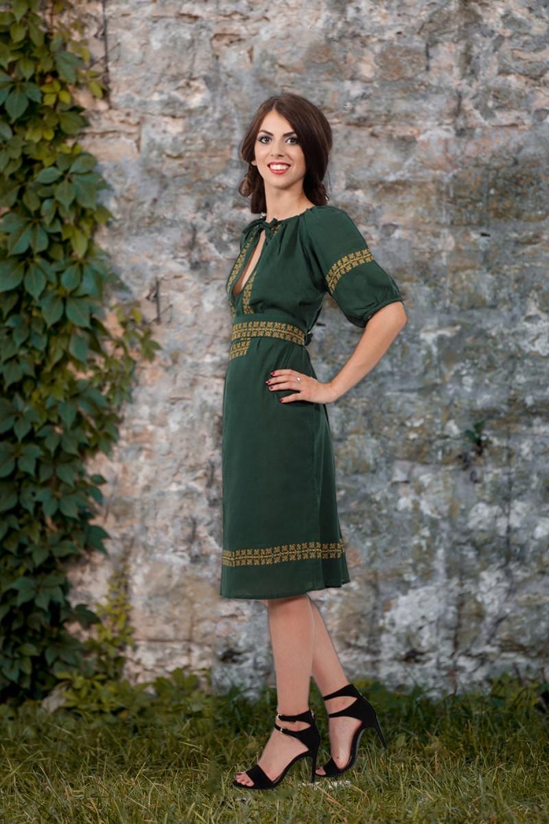 Rochie traditionala stilizata model Lacramioara panza topita