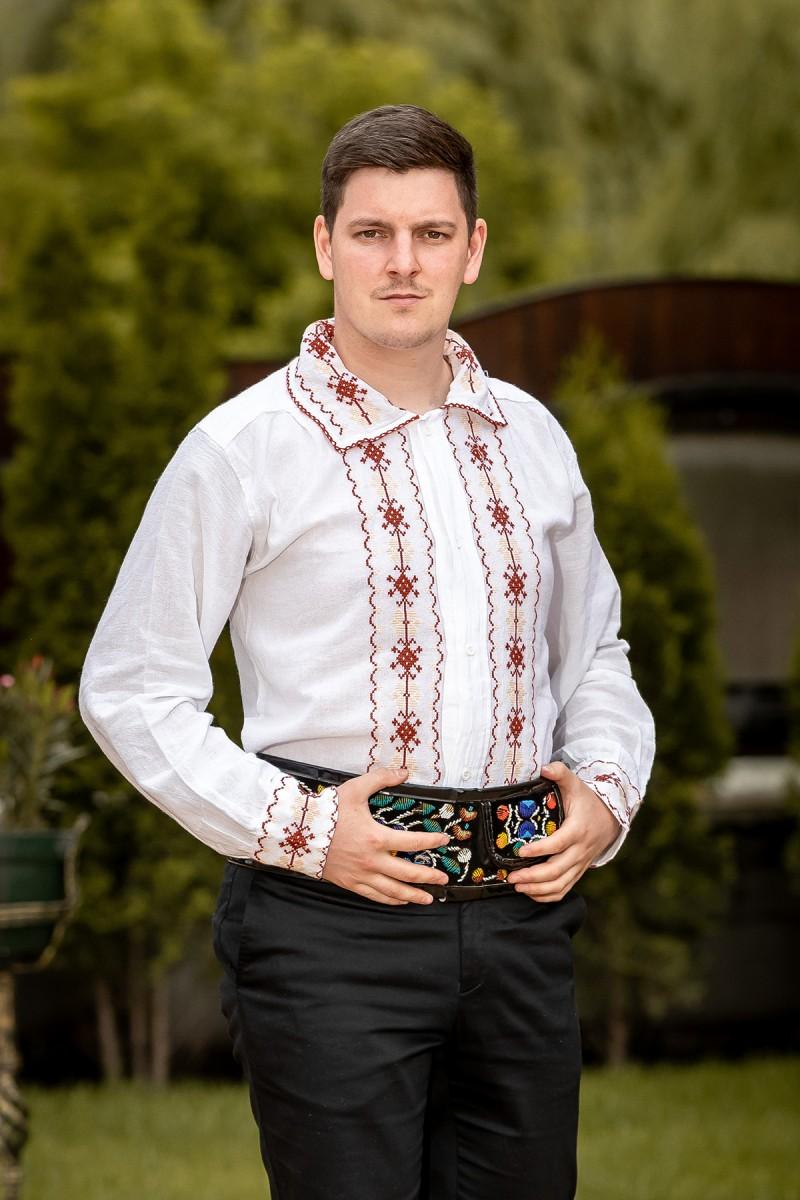 Camasa barbateasca traditionala Racul Crem